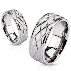 OPR1456 Snubní prsteny ocel - pár
