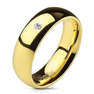 OPR1495 Dámský snubní prsten se zirkonem, šíře 6 mm