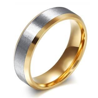 OPR1830 Pánský zlacený ocelový prsten