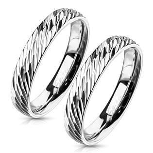 OPR1832 Ocelové snubní prsteny - pár
