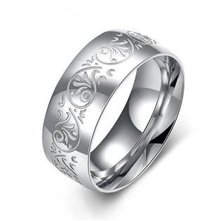 OR00091 Pánský ocelový prsten s ornamenty