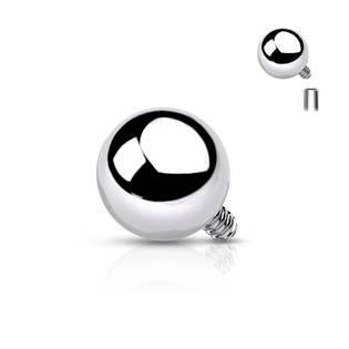 Ozdobná kulička k dermálu, průměr 3 mm