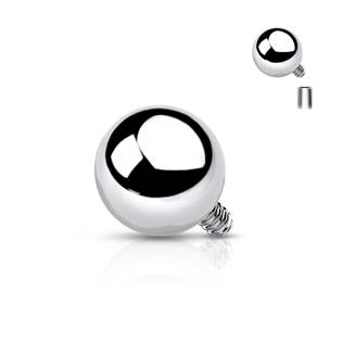Ozdobná kulička k dermálu, průměr 4 mm