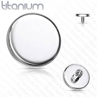 Ozdobná placka k dermálu TITAN, závit 1,6 mm, rozměr 4 mm
