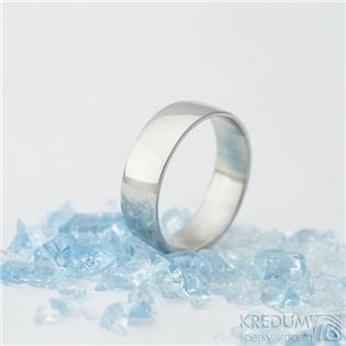 Pánský kovaný ocelový prsten Klasik lesklý