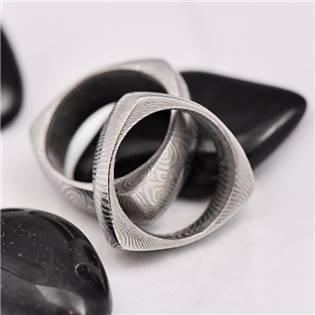 Pánský kovaný prsten Damasteel Delta