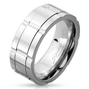 Pánský ocelový prsten rotační, vel. 62