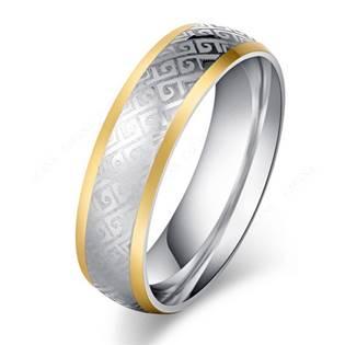 Pánský ocelový prsten, šíře 6 mm