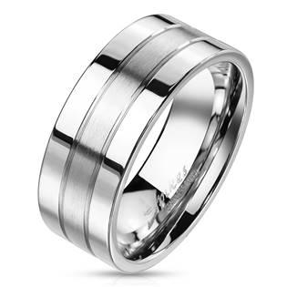 Pánský ocelový prsten šíře 8 mm