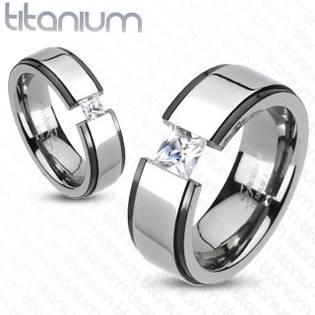 Pánský prsten titan, šíře 8 mm, vel. 68