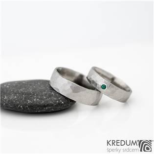 Pánský snubní ocelový prsten Draill