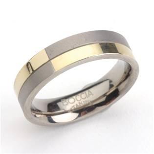 Pánský titanový prsten se zlacením BOCCIA® 0101-10