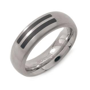 Pánský titanový snubní prsten BOCCIA® se smaltem 0102-12