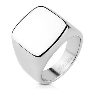 Pečetní ocelový prsten lesklý