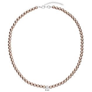 Perlový náhrdelník hnědý