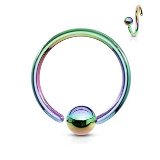 Piercing - kruh duhový