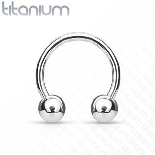 Piercing - podkova TITAN, 1,6 x 12 mm, kuličky 5 mm