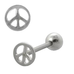 "Piercing do jazyka ""peace"""