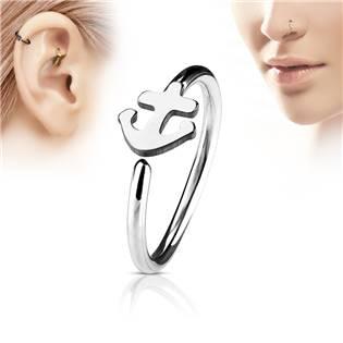 Piercing do nosu/ucha kruh s kotvou