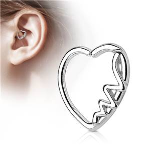 Piercing do nosu/ucha srdce