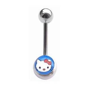 Piercing do pupíku - banánek kočička Hello Kitty