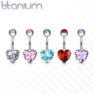 Piercing do pupíku srdce - TITAN