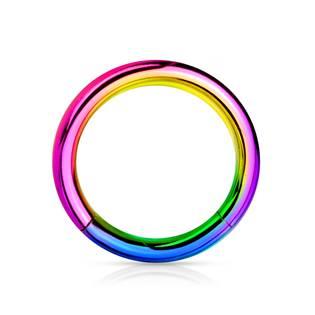 Piercing segment kruh - duhový, 1,2 x 10 mm