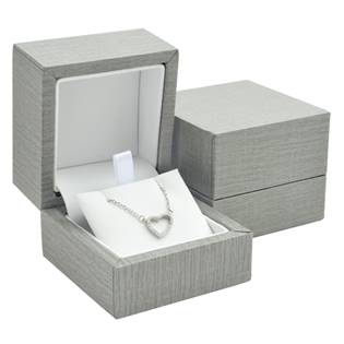 Plastová krabička na náhrdelník - imitace kůže