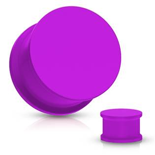 Plug do ucha silikon, fialová barva