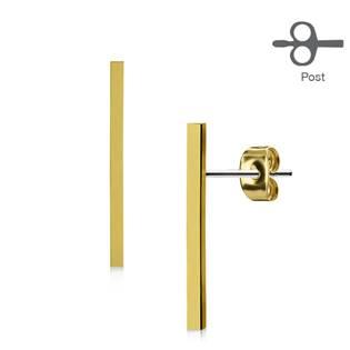 Podlouhlé zlacené geometrické náušnice
