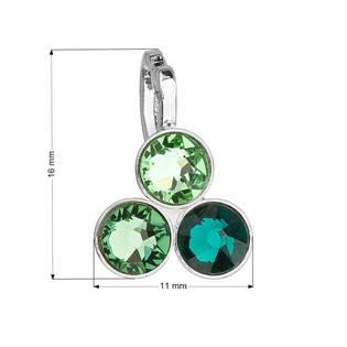 Přívěsek bižuterie se Swarovski krystaly, Emerald