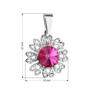 Přívěsek bižuterie se Swarovski krystaly, Fuchsia