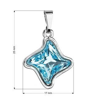 Přívěsek bižuterie se Swarovski krystaly hvězdička, Aqua