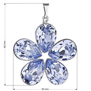 Přívěsek bižuterie se Swarovski krystaly, Lavender