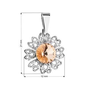 Přívěsek bižuterie se Swarovski krystaly,  Light Peach
