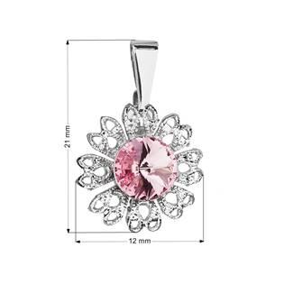 Přívěsek bižuterie se Swarovski krystaly, Light Rose