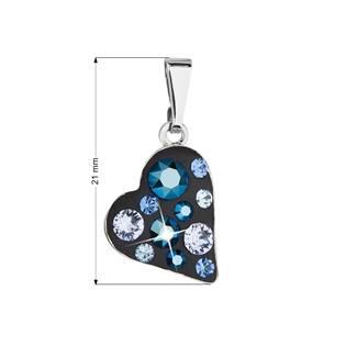 Přívěsek bižuterie se Swarovski krystaly, Metalic Blue