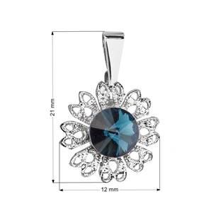 Přívěsek bižuterie se Swarovski krystaly, Montana Blue