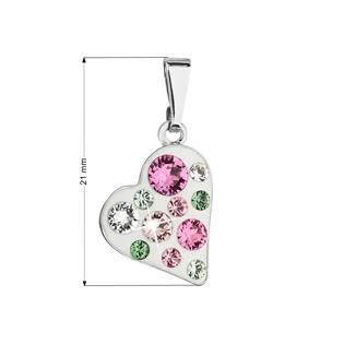 Přívěsek bižuterie se Swarovski krystaly, Pink
