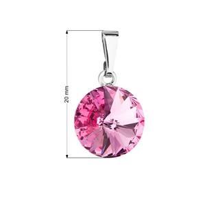 Přívěsek bižuterie se Swarovski krystaly, Rose