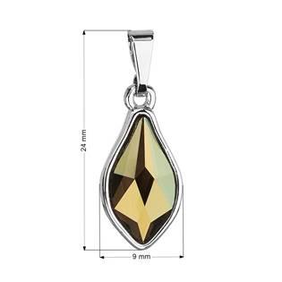 Přívěsek bižuterie se Swarovski krystaly zelená kapka, Iridescent Green