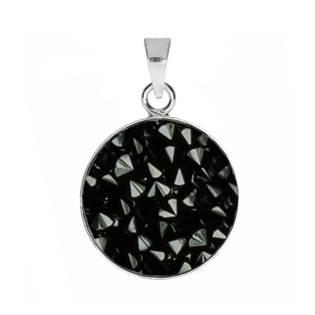 Přívěšek Crystals from Swarovski® 15mm, JET BLACK