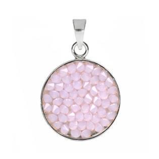 Přívěšek Crystals from Swarovski® 15mm, ROSE WATER OPAL