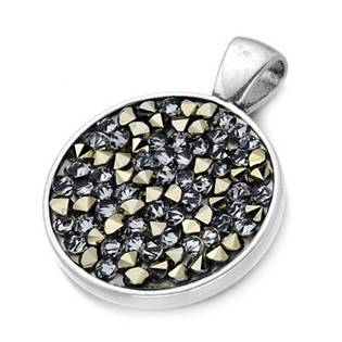 Přívěšek s krystaly Crystals from Swarovski® GOLDEN CHOCOLATE