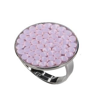 Prsten s krystaly Crystals from Swarovski® ROSE WATER OPAL