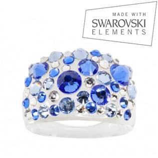 Prsten s krystaly Crystals from Swarovski®, Sapphire