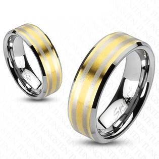 Prsten wolfram, šíře 6 mm, vel. 49