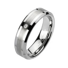 Prsten wolfram, šíře 7 mm, vel. 65