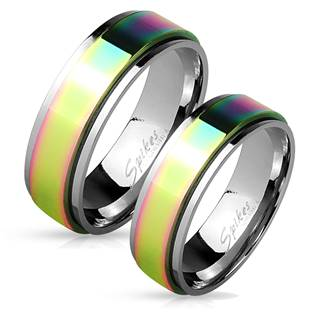 Rotační ocelové prsteny duhové