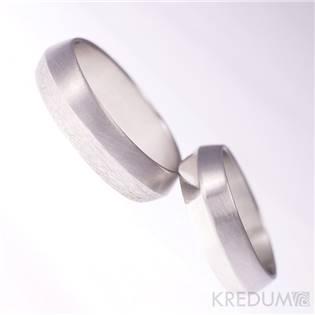 Ručně kované ocelové prsteny Fici - pár